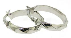 Simple Ribbon Hoop Earrings