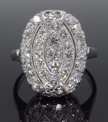 Platinum .75CTW Cluster Diamond Ring