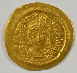 Virtual BU Justin II Byzantine Gold Solidus, 565-578 AD