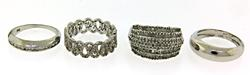 Group Lot of 4 Sterling Silver Rings
