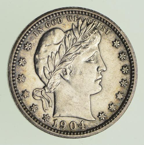 1904-O Barber Quarter - Circulated