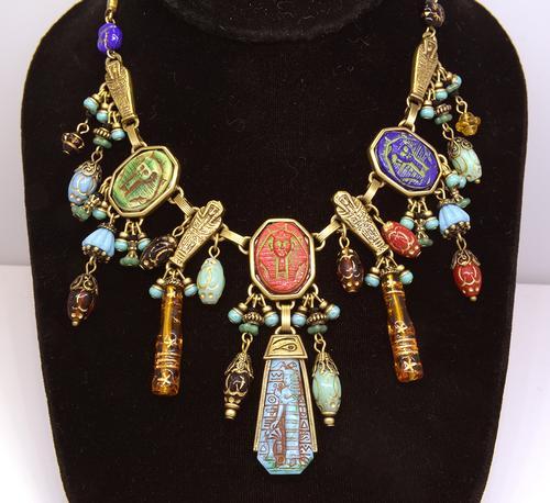 Art Deco Egyptian Vintage Pharaoh Collar Necklace