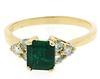 Elegant Emerald and Diamond Ring