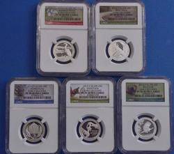 2015 ATB PF70 Silver Quarter Set, NGC