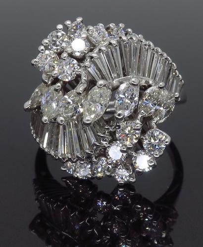 3.00CTW Mixed Cut Diamond Ring