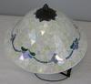 Flush Mount Johanna Mosaic Three Light Antique Brass Finish