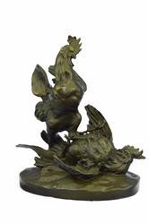 Fighting Cock Bronze Sculpture