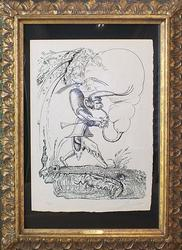 Signed Salvador Dali, From 'Pantagruel' Suite