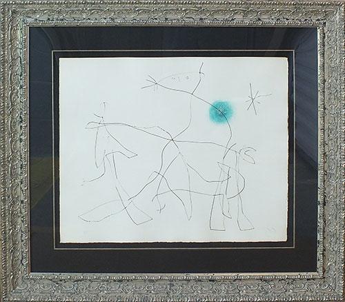 Signed Joan Miro, From 'Flux de l'Aimant'