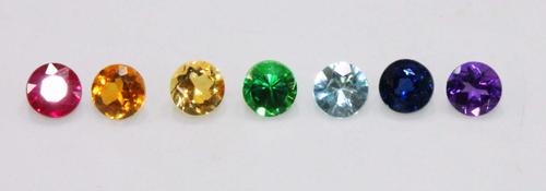 3mm Natural Gemstones Chakra Set of 7