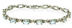 Flashy Aquamarine and Diamond Bracelet