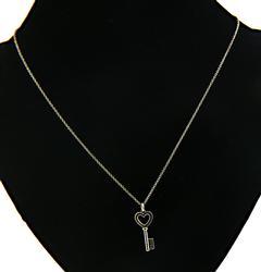Tiffany & Co Mini Heart Key Necklace