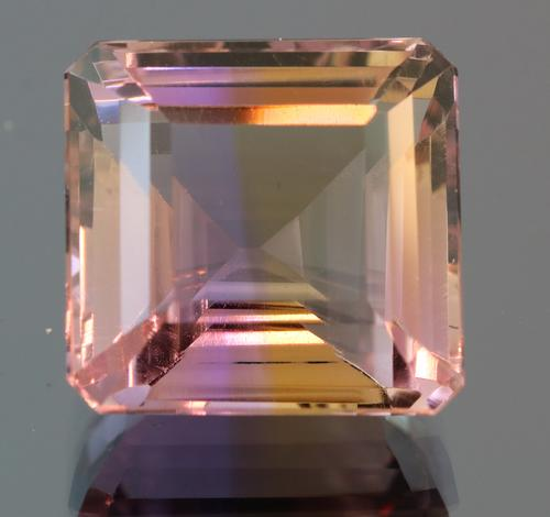 Flawless clarity 17.88ct real Bolivian Ametrine