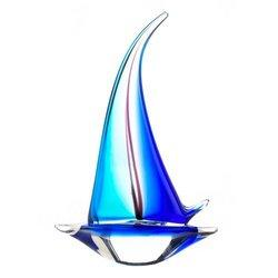 Sailor Boat Art Glass Statue