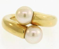 Cartier Toi et Moi Double Pearl Ring in 18K