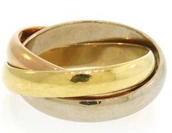 Cartier TRINITY Tri-Gold Interlocking Band