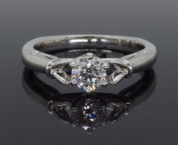 Classic Round Brilliant Cut Diamond Engagement Ring