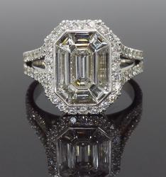 Approximately 3.00CT Equivalent Emerald Cut Ring