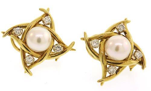 Romantic Pearl and Diamond Earrings