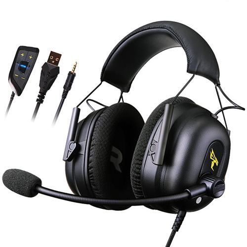 Gaming Headset 7.1 Surround Sound USB with Mic