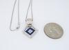 Diamond and Sapphire Pendant Necklace