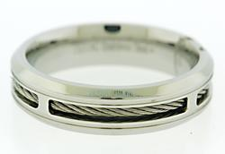Gents Stainless Steel Band with Stainless Steel Cabling