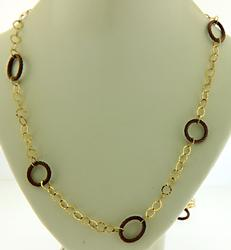 Designer Stainless Steel/18K Charriol Circle Necklace