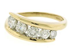 Bypass Style Journey Diamond Ring at 1.0 CTW in 14K
