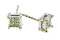 Fabulous Multi Diamond Stud Earrings in 14K