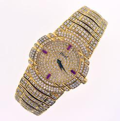 Fully Loaded 18K Yellow Gold Piaget Tanagra