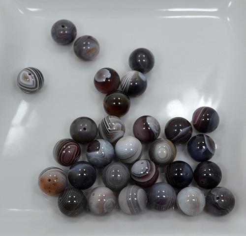 Botswana Agate Gemstone 29 Ct. 14mm Round Beads