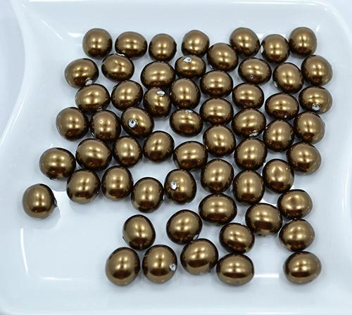 Bronze Baroque Shell Pearls 59 Count 15 x 13mm Beads