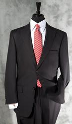 Formal Shadow Stripe Black Color Suit By Galante