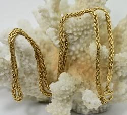 Stylish and Heavy 23K Gold Necklace