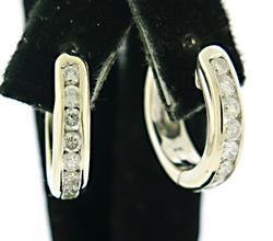 Fantastic 1.80 CTW Diamond Hoop Earrings