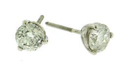 Chic 1.64 CTW Diamond Stud Earrings in 14K