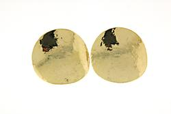 Hammered Disc Earrings in 14K