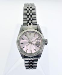 Ladies stainless steel Rolex Date