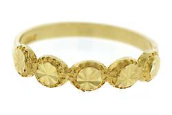 14KT Gold and Diamond Cut Circle Ring