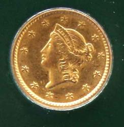 Americas First Circulating $1 Gold Coin 1851