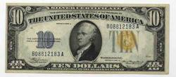 Nice Fresh Near Unc 1934 A $10 North Africa Silver Certificate