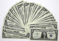 47 Consecutive $1 CH CU Silver Certificates 1957 B