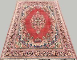 Captivating 1950s Authentic Handmade Vintage Persian Ferahan