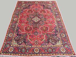 Lustrous Fine Handmade Vintage Persian Tabriz