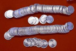 2 Rolls of 50 1/10th Oz Fine Silver Rounds, 10oz