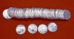1 Roll of Buffalo Nickel Motif 1/10oz Silver Rounds