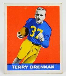 1948 Terry Brennan, Notre Dame Football Card