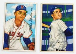 2 Bowman 1952 Baseball Cards