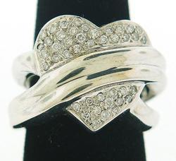 14kt Pave Diamond Heart Ring