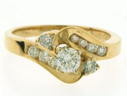 Beautiful Petite Bypass Diamond Ring